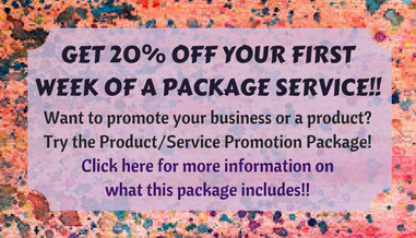 Get 20% off your first week of a package service!! (1)